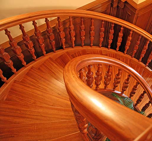 Stairs with curved elements №4