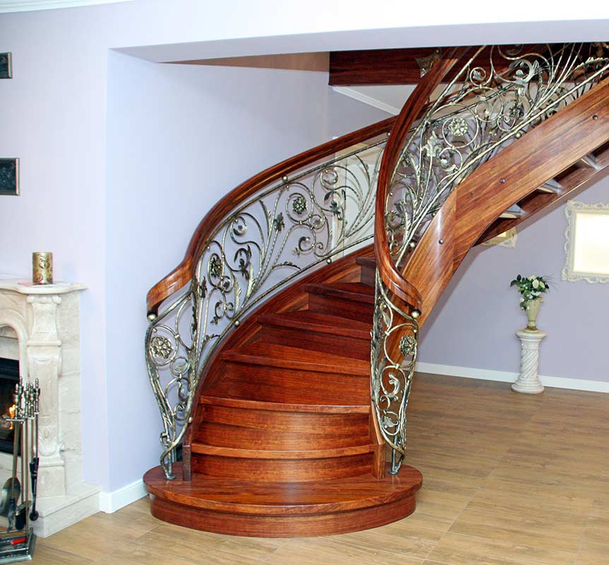 Stairs with curved elements №5