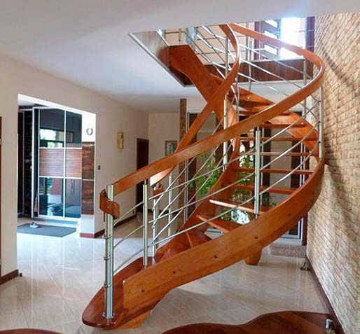 Stairs with curved elements №3
